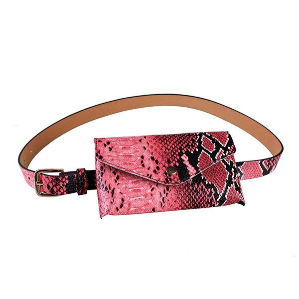 Hot-sale designer Women Snake Pattern Mini Crossbody Bag Stylish Waist Bag Online