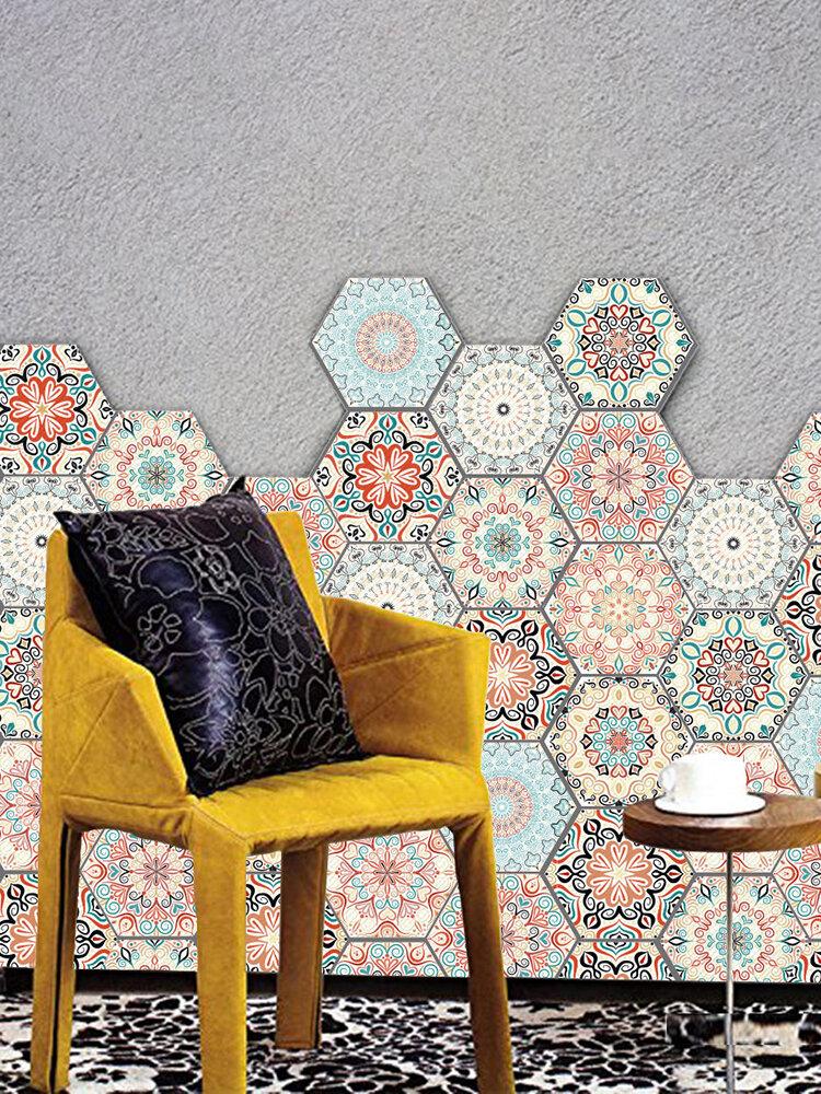 3D Wall Sticker 10Pcs/Set Self Adhesive Ceramic Tiles DIY Bathroom Kitchen Wall Floor Decal
