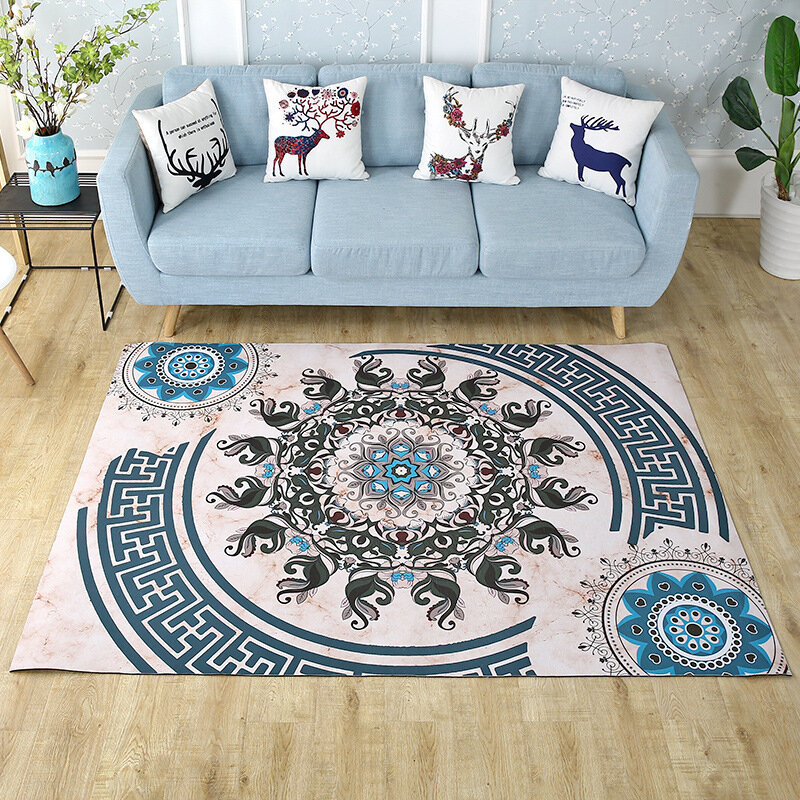 Nordic Style Persian Plush Carpets for Home Living Room Bedroom Washable Carpets Floor Mat