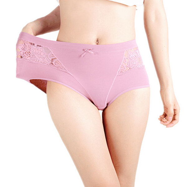 Plus Size Cotton Leakproof High Waist Physiological Panties