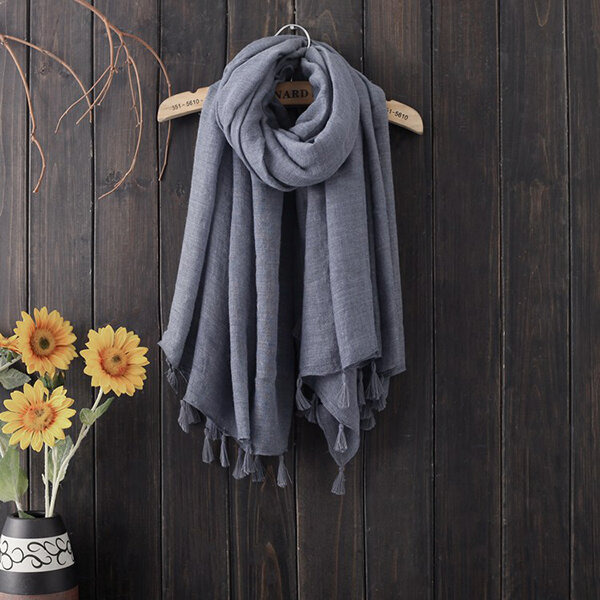 MEANBEAUTY Women Cotton Breathable Summer Thin Beach Scarf 140*140 Oversize Square Scarf
