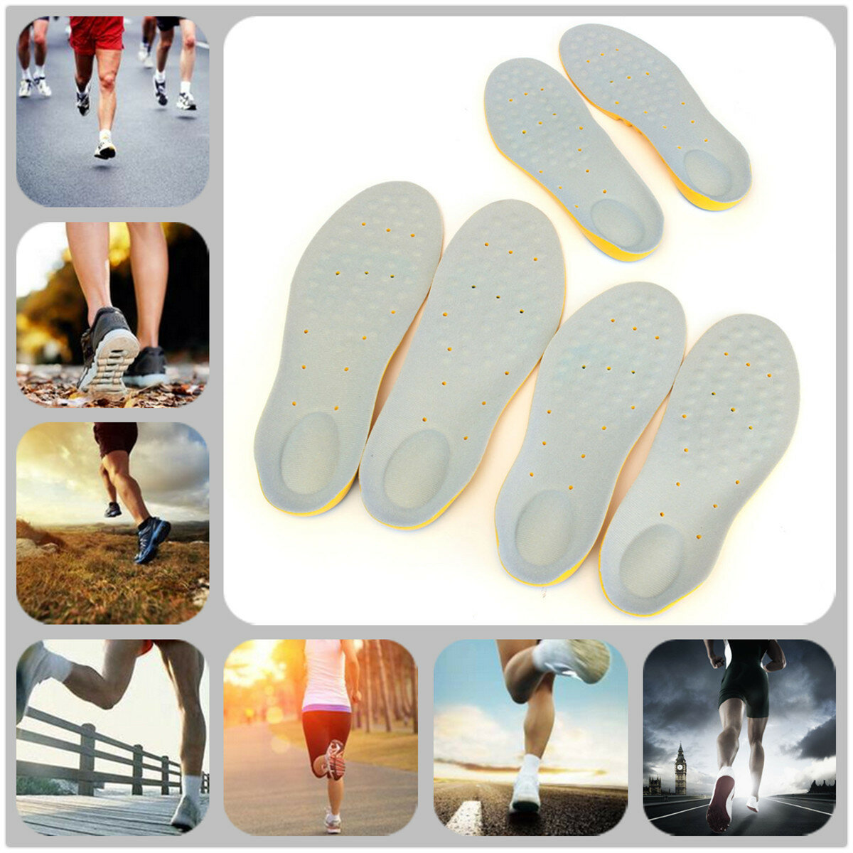 Memory Foam Orthotic Arch Support Boot Shoes Insoles Insert Pad Comfortable