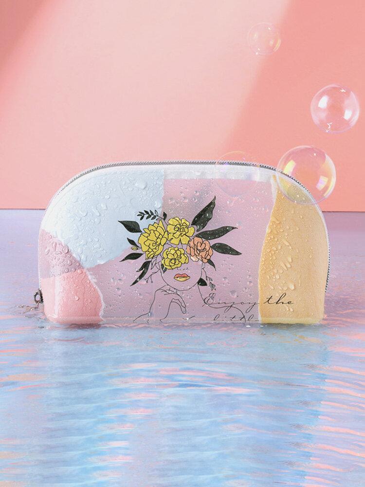 女性かわいいTPUPVC透明化粧品バッグウォレット