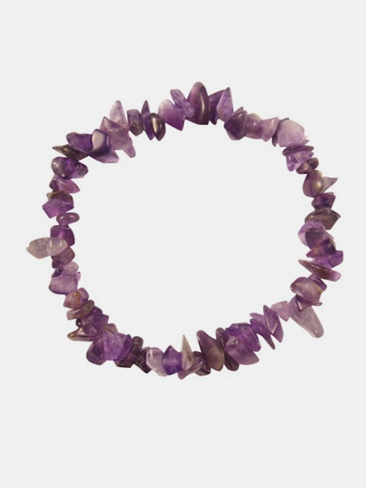 Crystal Irregular Multicolor Beads Stretch Bracelet