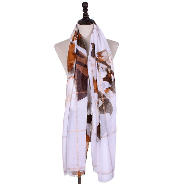 Women's Cotton Jacquard Weave Summer Spring Sunshade Scarves Casual Soft Windproof Scarf