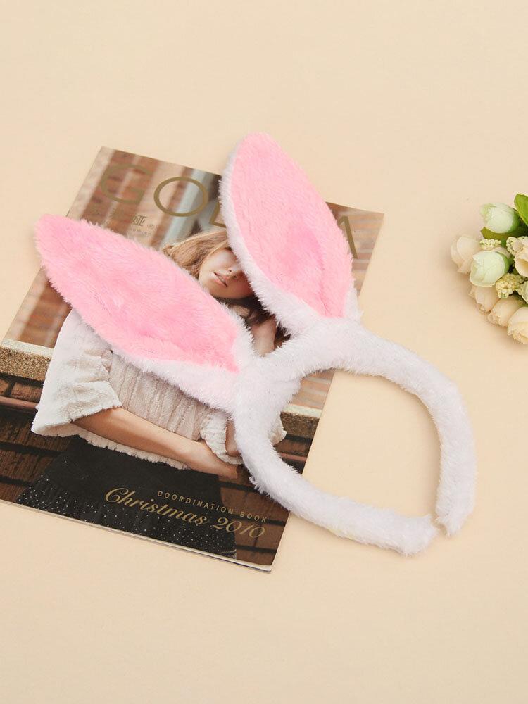 Accessoires de cheveux de femmes de pâques mignon oreilles de lapin coiffe enfants bandeau