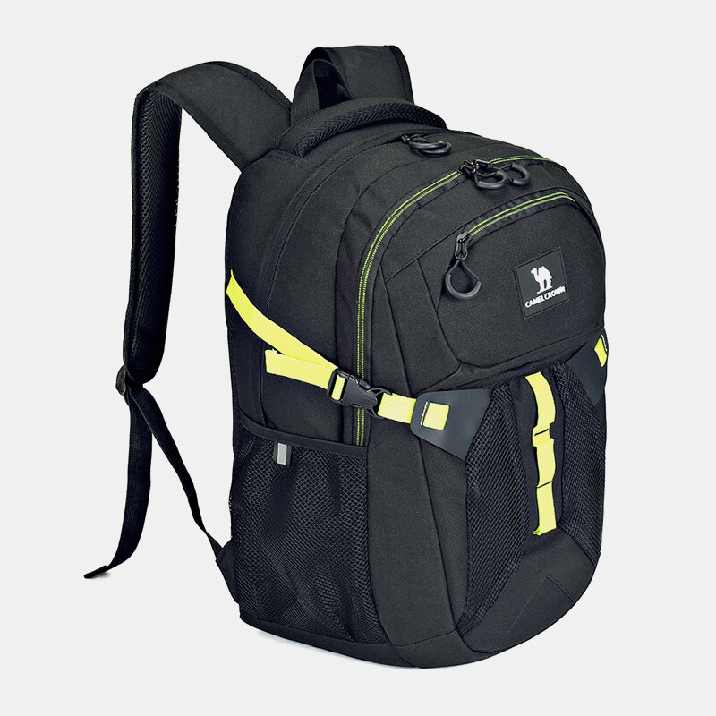 Men Polyester Patchwork Reflection Light Weight Large Capacity Sport Hiking Travel Backpack