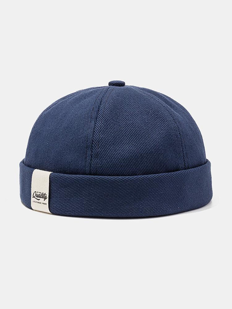قبعة بحار كلاسيكية للرجال والنساء قبعة باردة صلبة اللون قبعة جمجمة بدون حواف