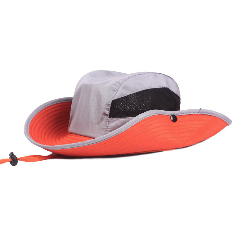 Men Folding Outdoor Mesh Sun Hat Wide Brim Sun Protection Hat Fishing Hunting Hiking Hat