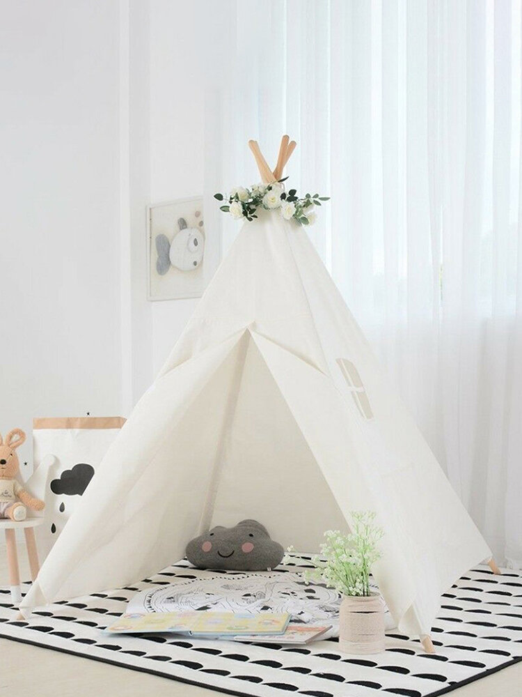 20 Stars +Tiny Land Indian Cotton Canvas Kids Teepee Tent Wigwam Indoor Playtent