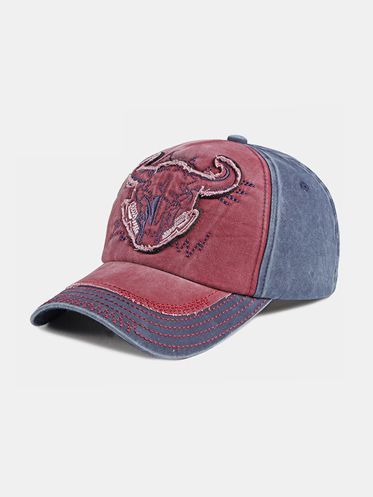 Outdoor Embroidery Personalized Edging Washed Denim Baseball Cap Sunshade Hat
