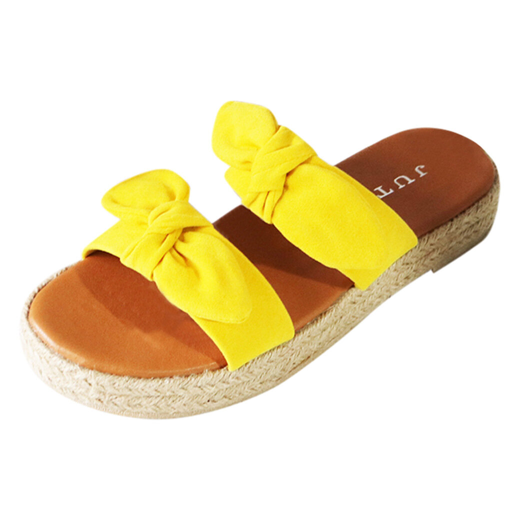Large Sizes Women Linen Sole Sandals