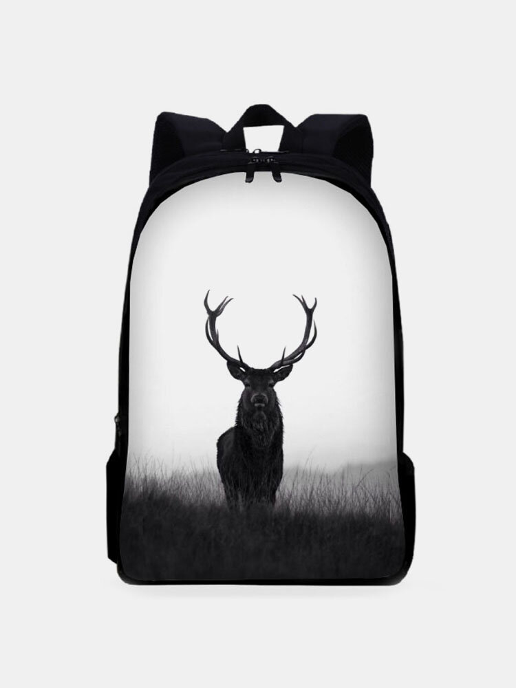 Men Antelope Large Capacity Ancient Style Painting Backpack