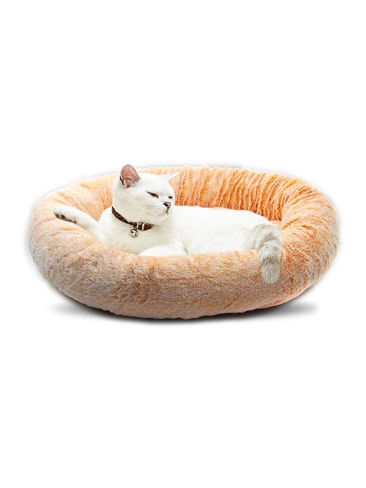 ラウンドショートぬいぐるみ猫の巣オールシーズンユニバーサル快適なSoft暖かい洗えるペットベッド