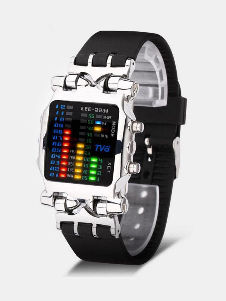 Affichage binaire LED Creative Regarder numérique électronique à la mode Regarderes