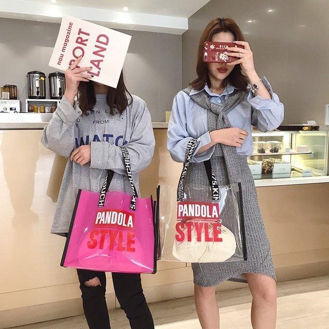 Bag Female Tide Fashion Wild Shoulder Bag Lady Transparent Mother Bag Large Capacity Tote Bag