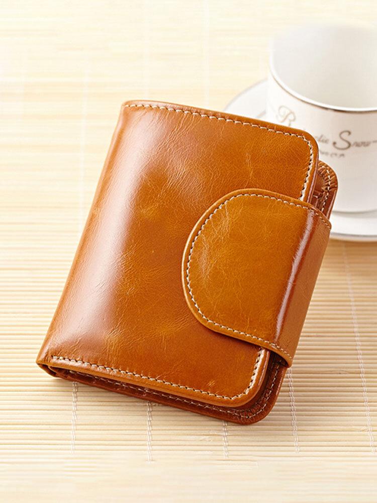 Women Genuine Leather Wallet Business Card Holder Purse