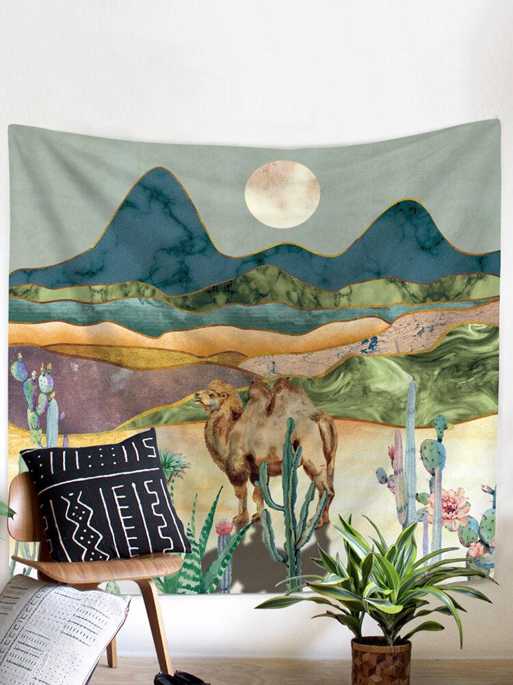 Hippie Mandala Skull Tapestry Wall Hanging Tarot Night Psychedelic Chakra Tapestry Moon Blanket