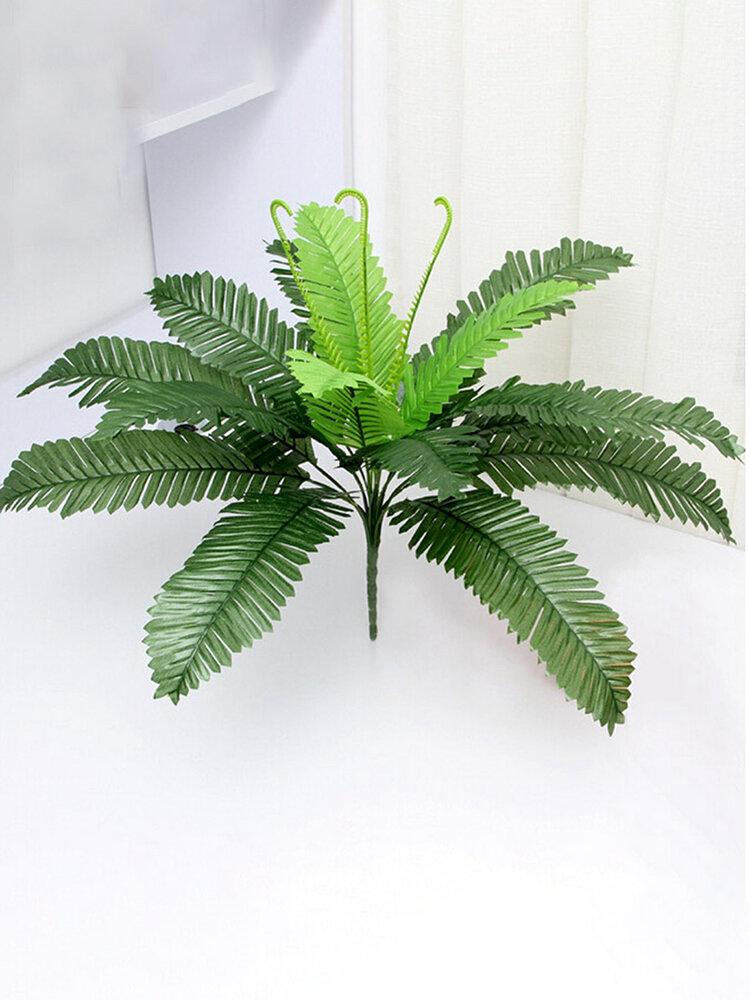 Núcleo com 18 cabeças de plantas artificiais Folhas de ferro Simulação de flores Plantas verdes falsas