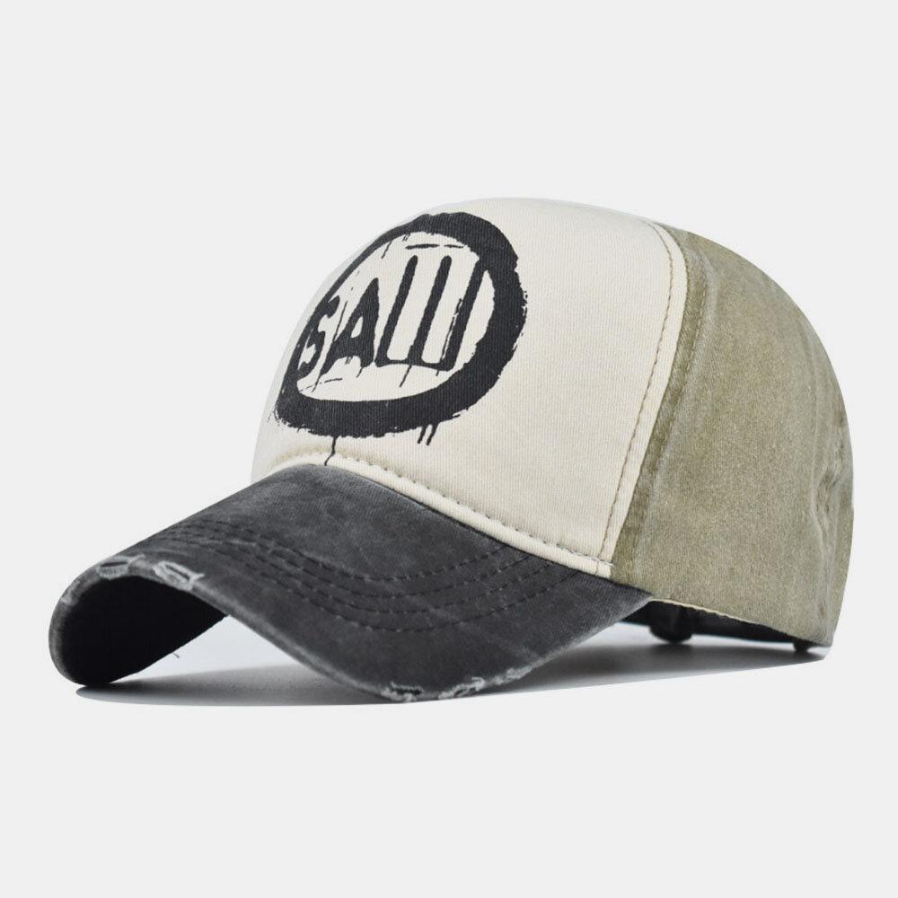 Washed Denim Retro Baseball Cap Men And Women Cap Sun Hat Embroidery Hats