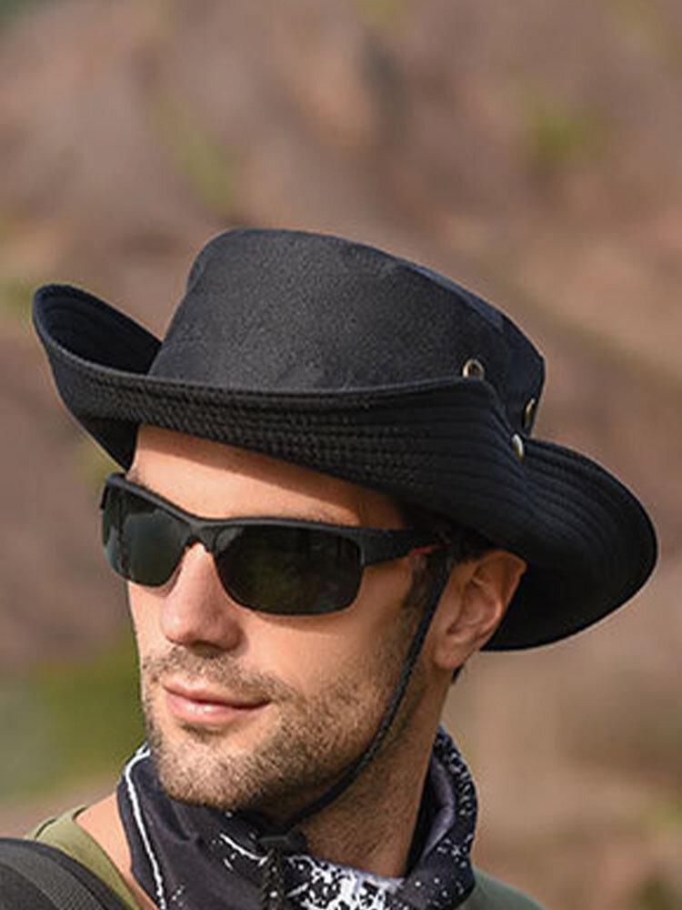 Men's Hiking Hat Big Breathable Sun Hat UV Protection Fisherman's Hat