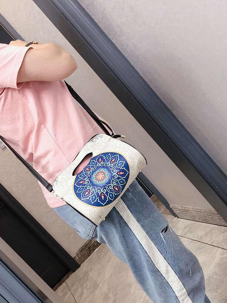 Women Ethnic Print Crossbody Bag Handbag