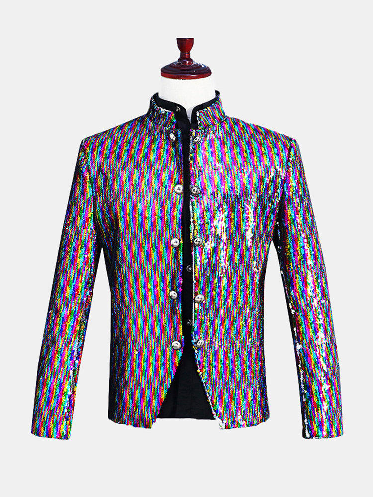 Mens_Reversible_Colorful_Sequin_Dress_Suit_Stage_Banquet_Wedding_Night_Club_Casual_Dress_Blazer