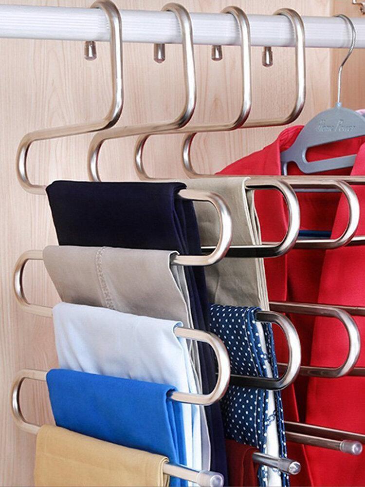 S-Type Pants Rack Multi-Function 5 Layer Hanger Multi-Purpose Rack