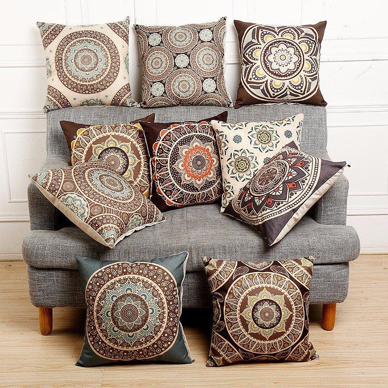 Sensational Vintage Bohemian Style Cotton Linen Throw Pillow Case Waist Cushion Cover Bags Home Sofa Car Decor Gamerscity Chair Design For Home Gamerscityorg