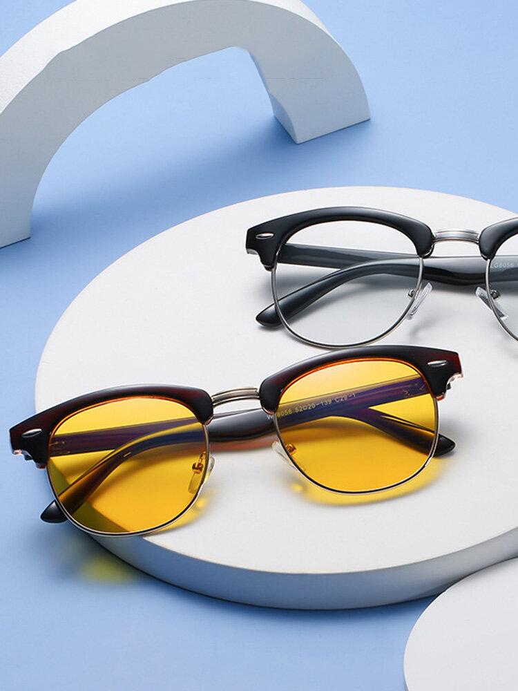 Men Anti-Blue Glasses Flat Mirror Full Frame Women Eye Protection Computer Goggles