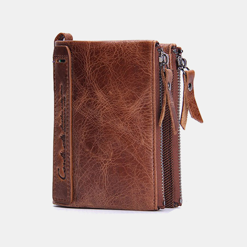 Women Genuine Leather 6 Card Slots Photo Card Money Clip Coin Purse Multifunctional Wallet (SKUG05334) photo