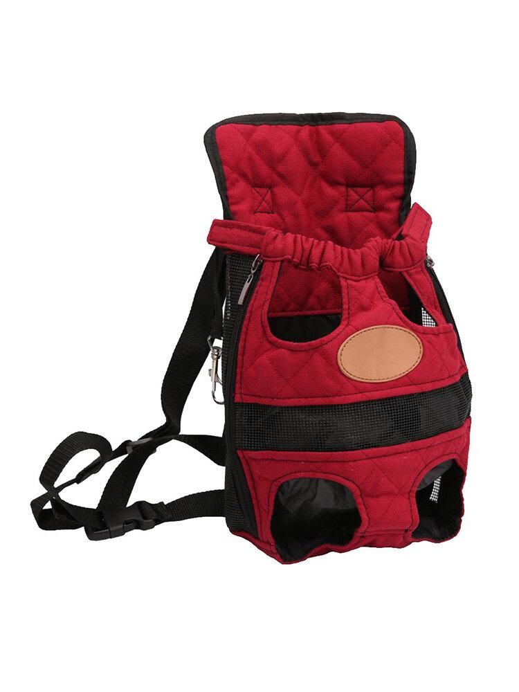3色通気性フロントペット旅行バックパック犬猫フロントバッグ屋外キャリア