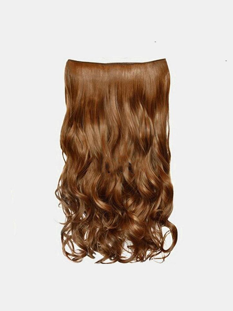 6 цветов длинные вьющиеся Волосы удлинители с пятью зажимами высокотемпературное волокно Парик шт.