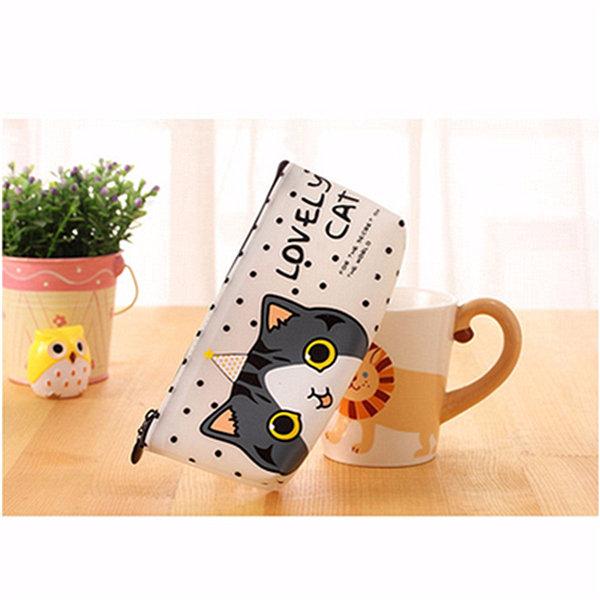Custodia per penna a forma di gatto simpatico cartone animato Scatola Custodia fissa per penna Borsa