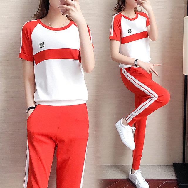 European Station Knit Top Sports Suit Women's Season New Casual Harem Pants Two-piece