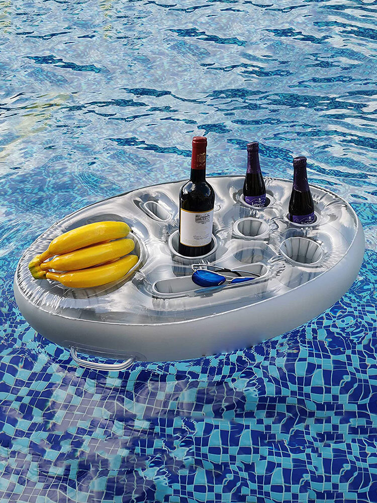 1 PC Summer Party Bucket Cup Holder Inflatable Pool Float Beer Drinking Cooler Table Bar Tray Beach Swimming Ring Accessories