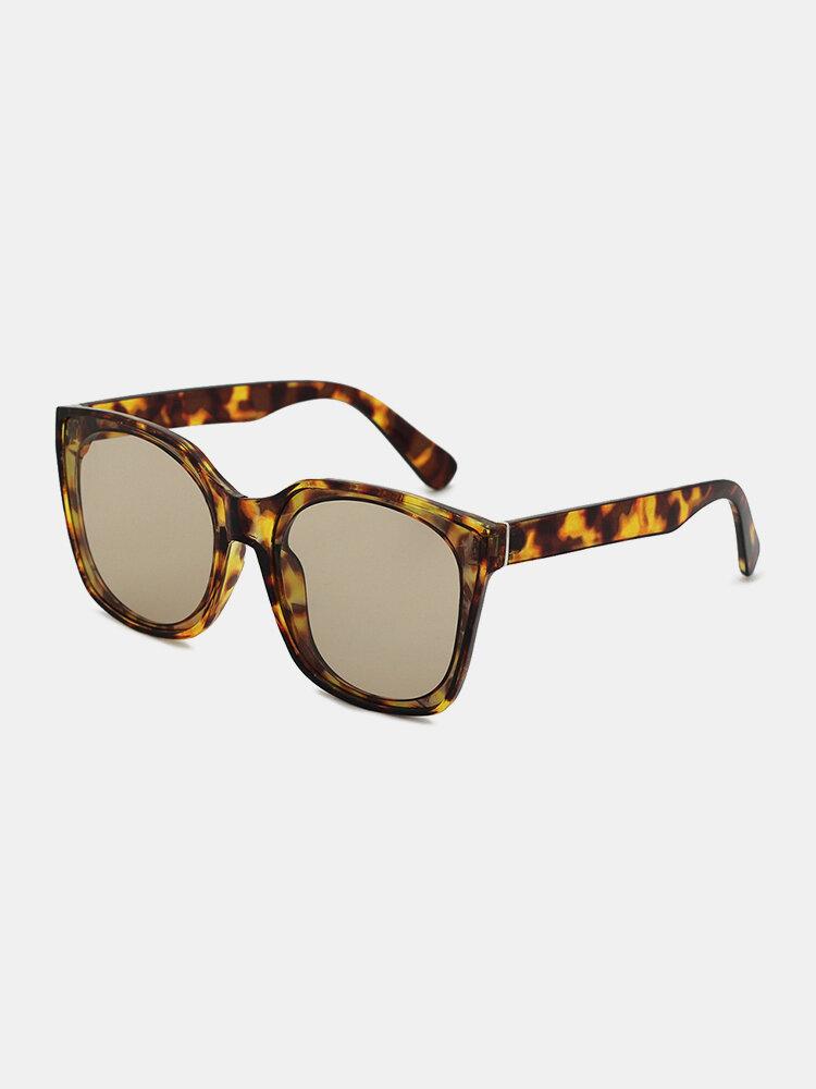 Unisex Square Full Frame Tortoiseshell Fashion Outdoor UV Sunglasses