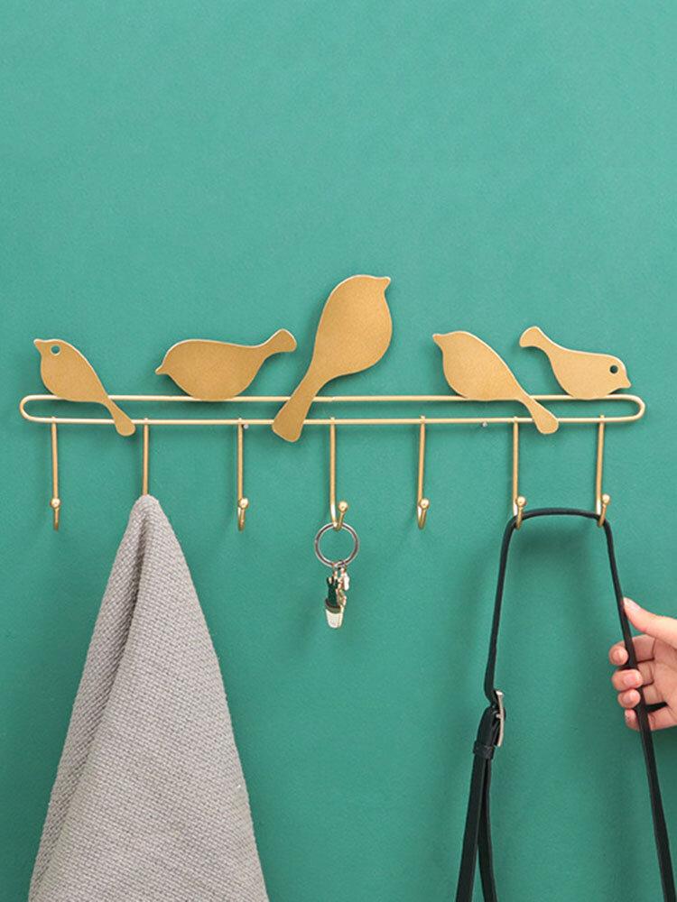 1 PC Hand-Welded Simple Multi-Hook Hanger Bird Shape For Living Room Bedroom Study Bathroo Muniversal