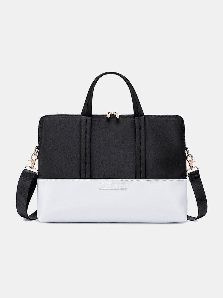 Simple Shock-Resistant Breathable Waterproof 13.3/14/15.6 Inch Laptop Shoulder Bag For Suitcase