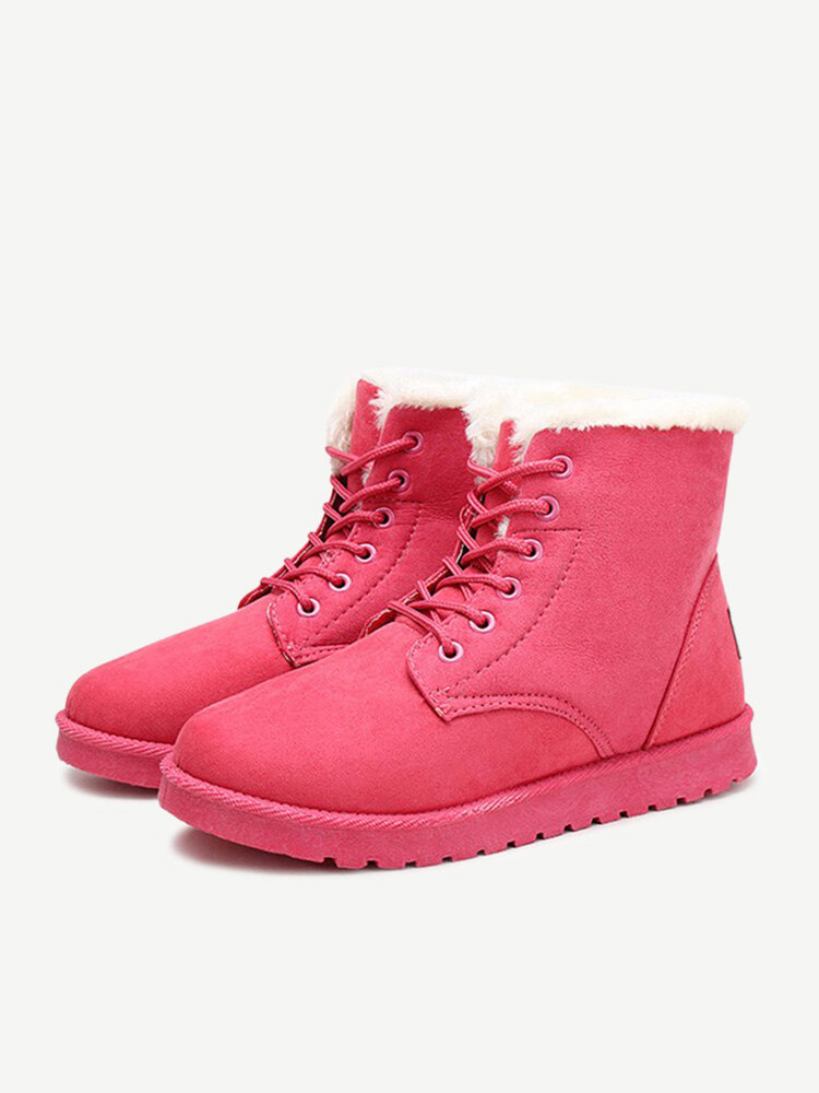 Keep Warm Flat Ankle Snow Boots