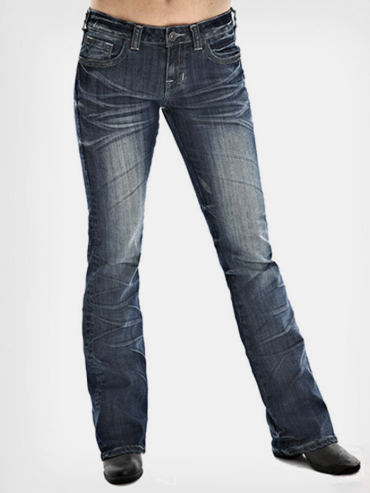 Embroidered Causal Denim Jeans With Pocket For Women