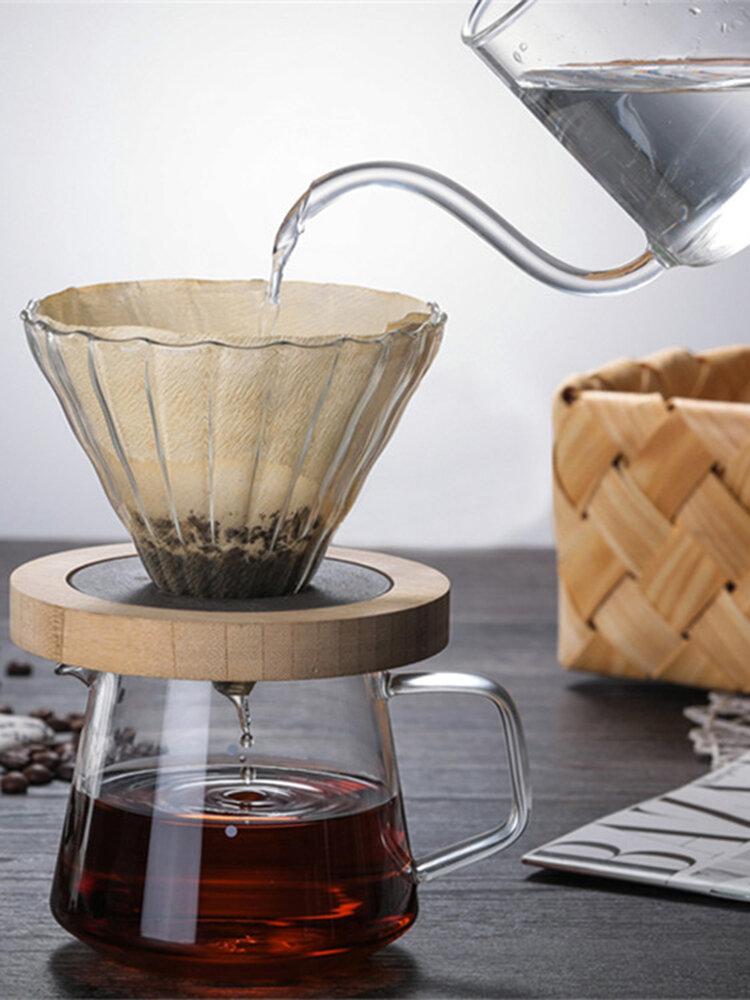 500 мл стеклянный высокотемпературный ручной совместный доступ к кофейному чайнику на кухне и в баре дома