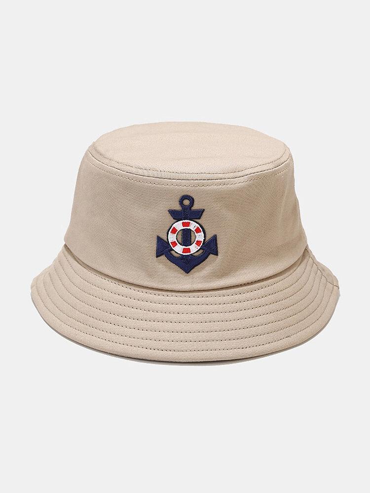 महिला और पुरुष लंगर सर्वाइवल सर्कल पैटर्न आउटडोर सनशेड बाल्टी टोपी