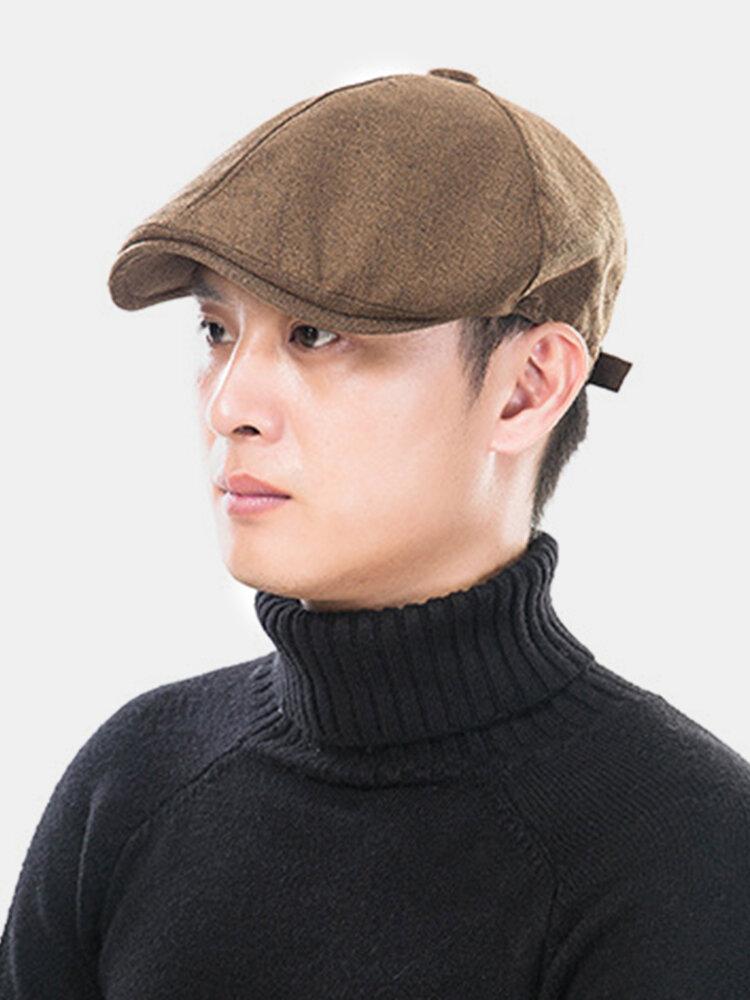 Outdoor Linen Thin Beret Hat Literary Forward Hat