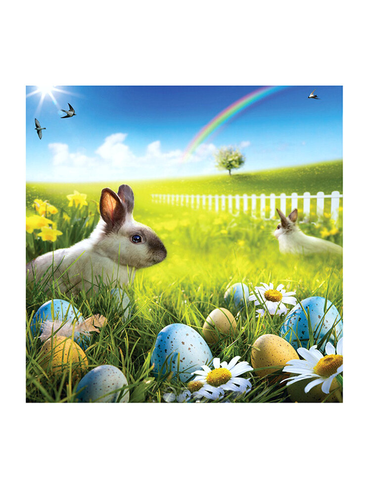 80x125cm Easter Rabbit Egg Photo Background Spring Break Happy Time Collection Helper Home Wall Art