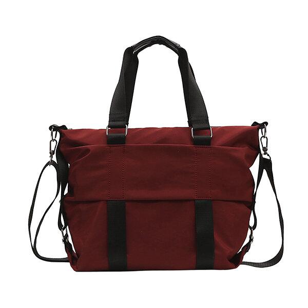 Women Men Leisure Nylon Large-capacity Handbag Shoulder Bag