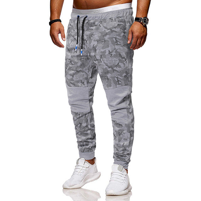 Ou Code Men's Camouflage Tether Belt Color Matching Casual Pants Men's Youth Pants
