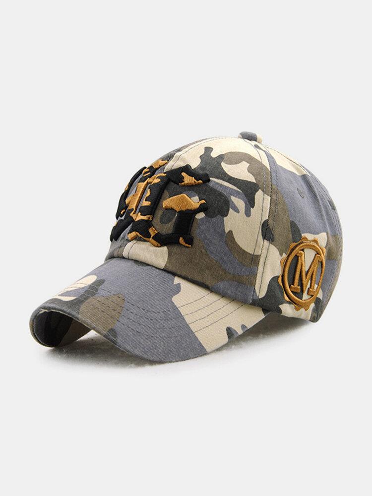 Men Women Vintage Cotton Camouflage Embroidery Baseball Cap Adjustable Golf Snapback Hat