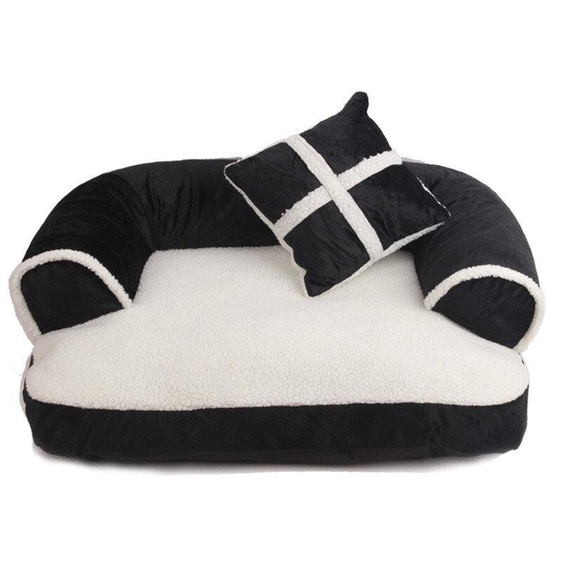 3 ألوان الاتحاد الأوروبي نمط الفاخرة الأريكة سرير الكلب القط انفصال الشتاء للسرير بيت الكلب