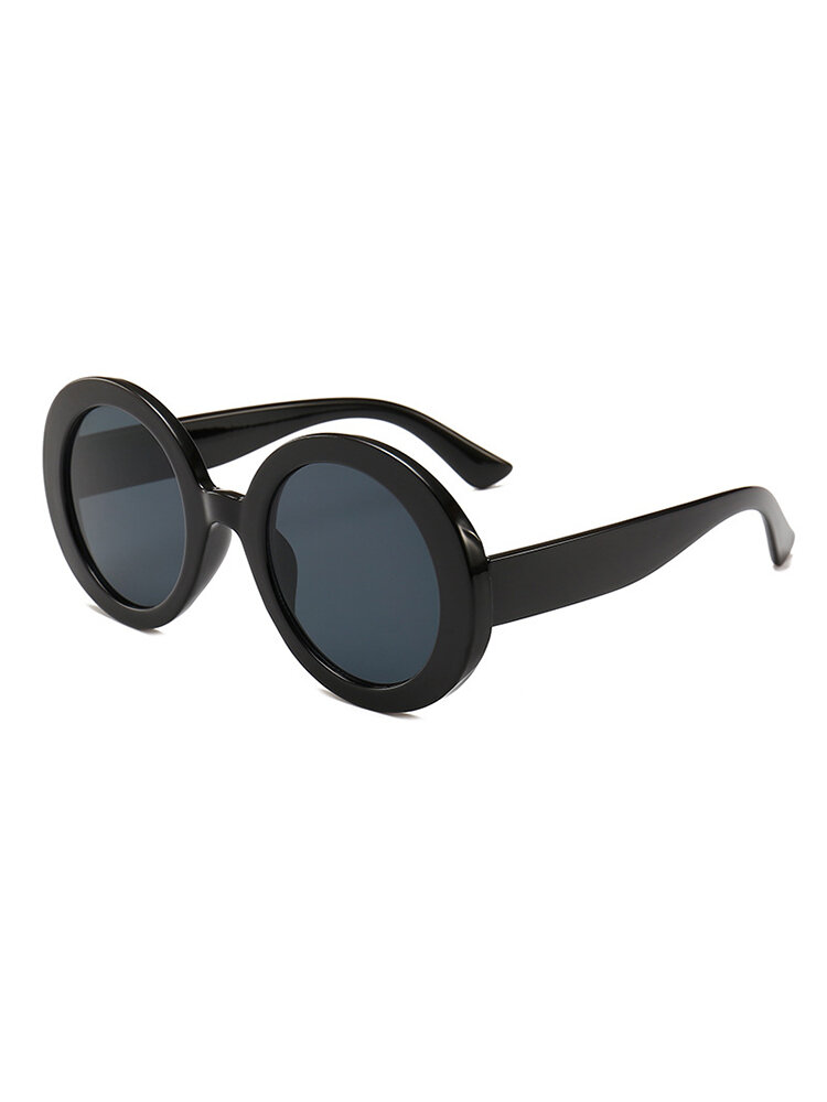 Womens Vintage Vogue UV400 Stripe Round Sunglasses Outdoor Travel Casual Glasses